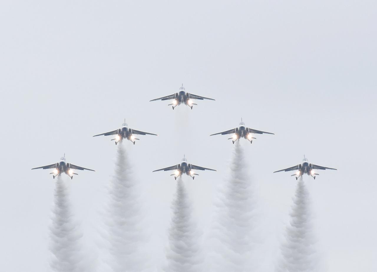 入間基地航空祭2019年ブルーインパルス課目(デルタ・ダーティ・ローパス)