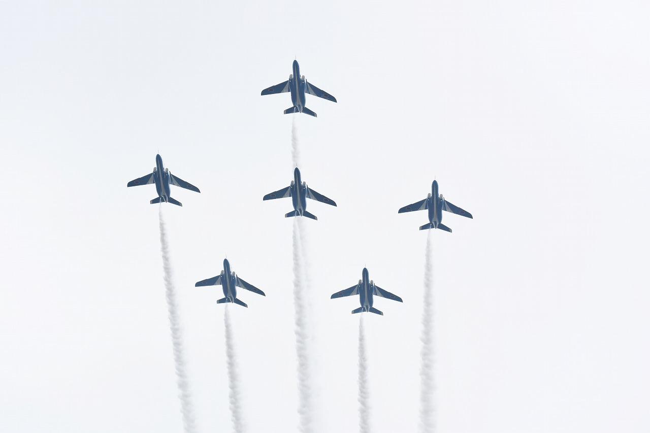 入間基地航空祭2019年ブルーインパルス課目(ポイント・スター・ローパス)