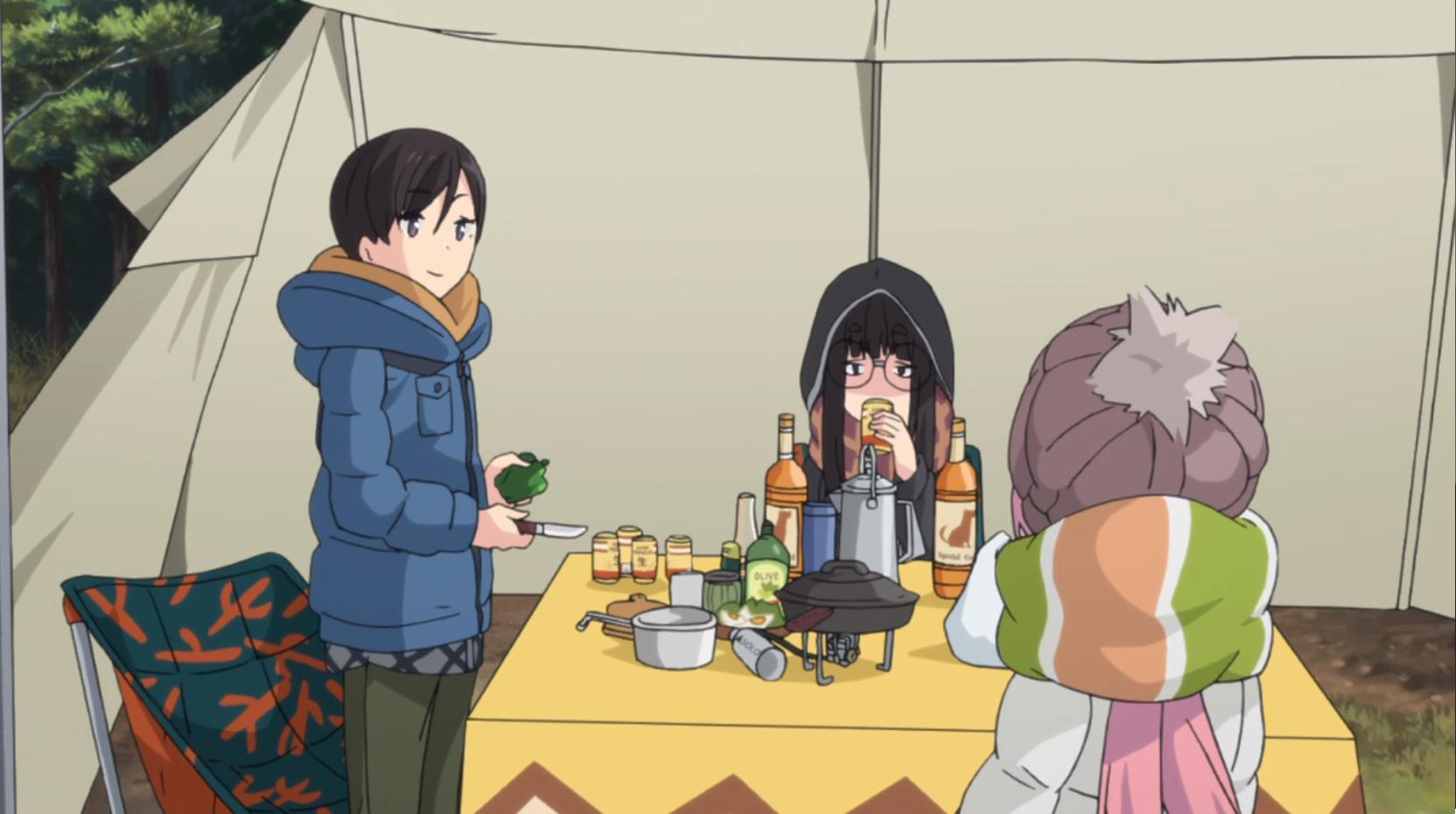 アニメ『ゆるキャン△』7話 のお隣キャンパーさん二人組