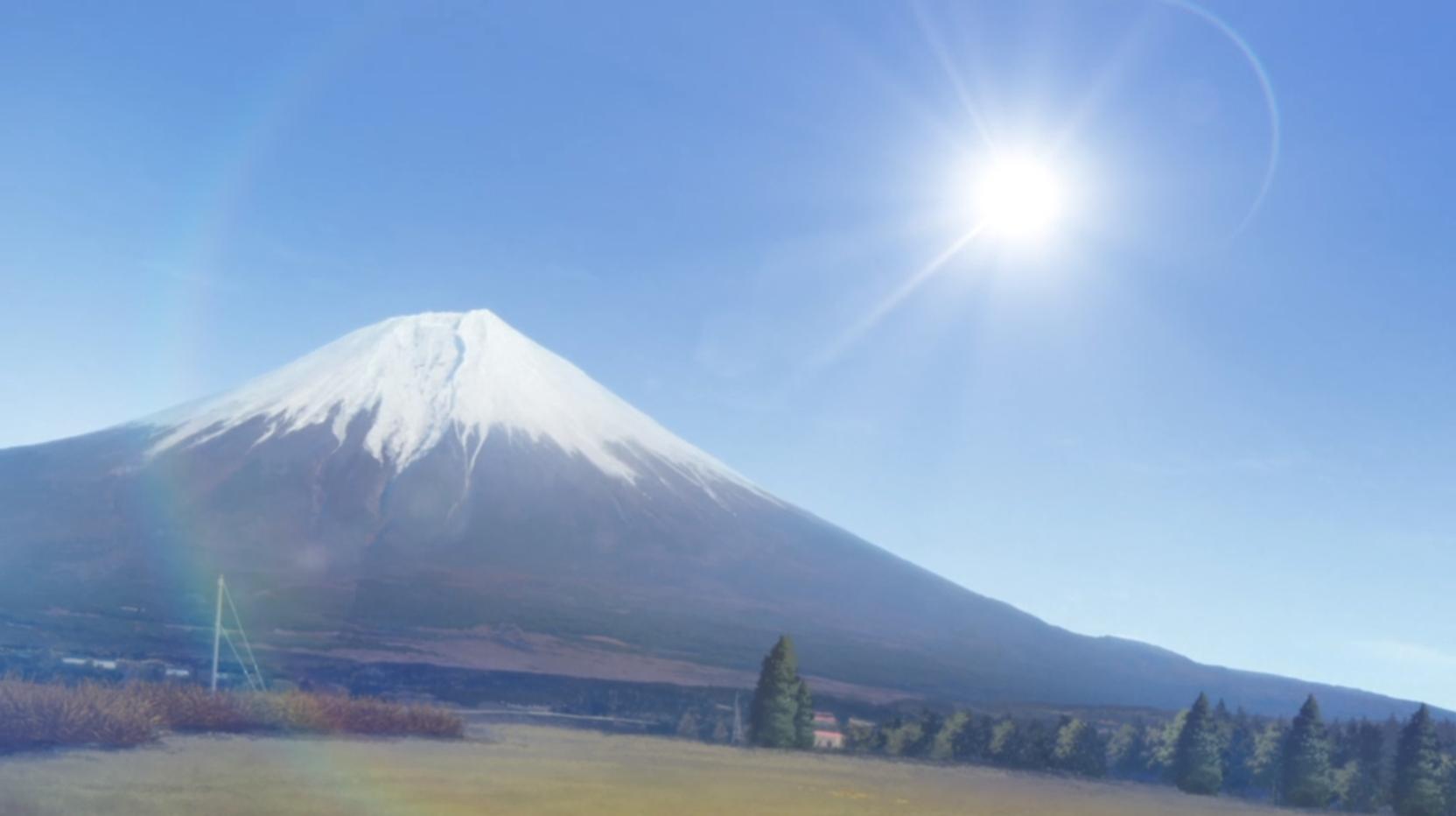 アニメ『ゆるキャン△』11話の朝霧高原キャンプ場