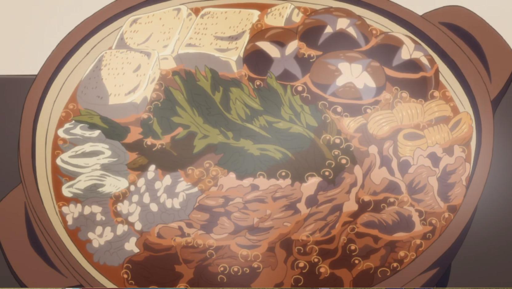 アニメ『ゆるキャン△』11話のすき焼き関西風