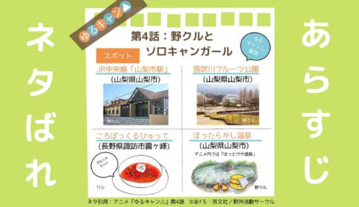 ゆるキャン△(アニメ第4話)のあらすじと見どころネタバレ解説