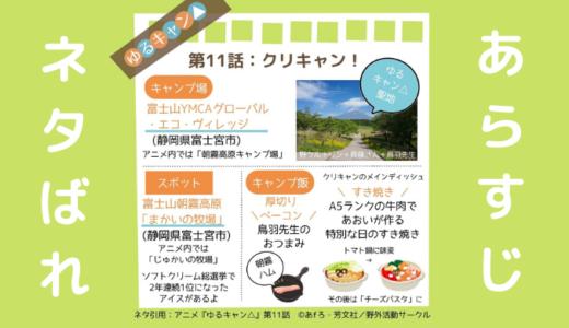 ゆるキャン△(アニメ第11話)のあらすじと見どころネタバレ解説