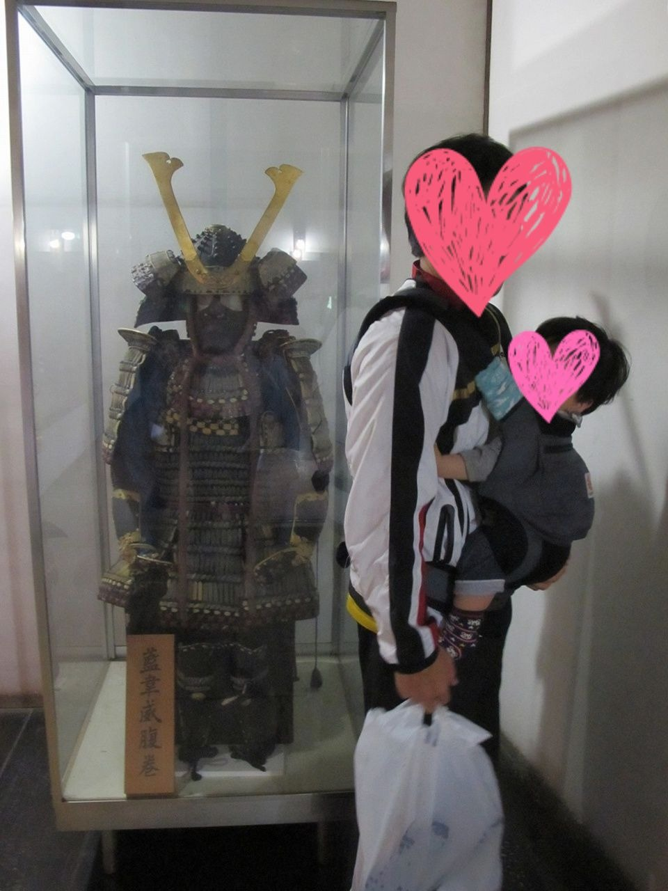 国宝犬山城で見た鎧兜と記念撮影