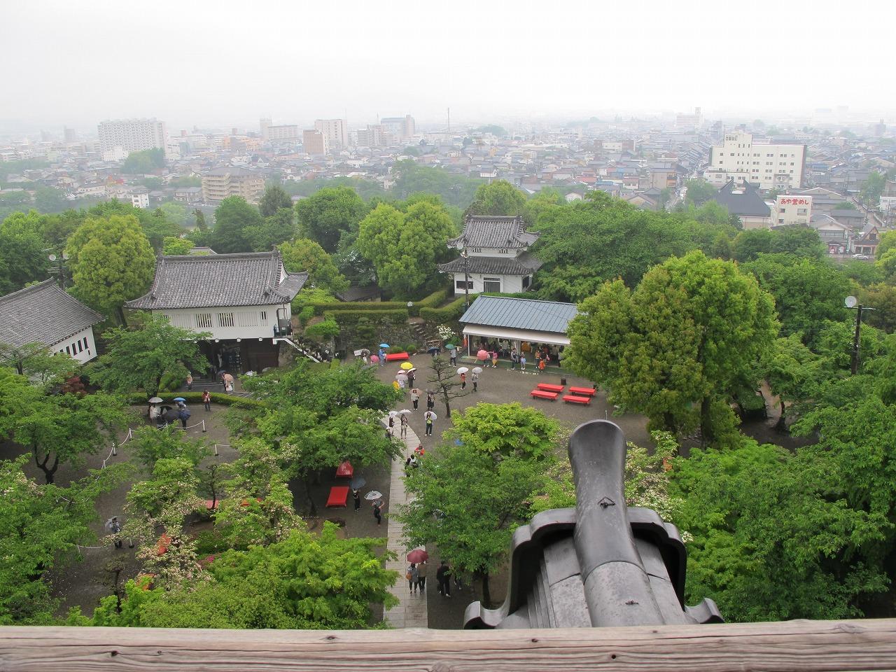 犬山城天守閣からの景色