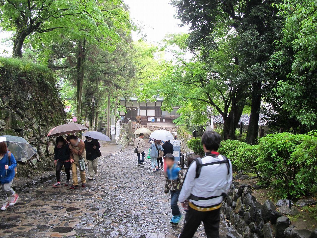国宝犬山城周りの道