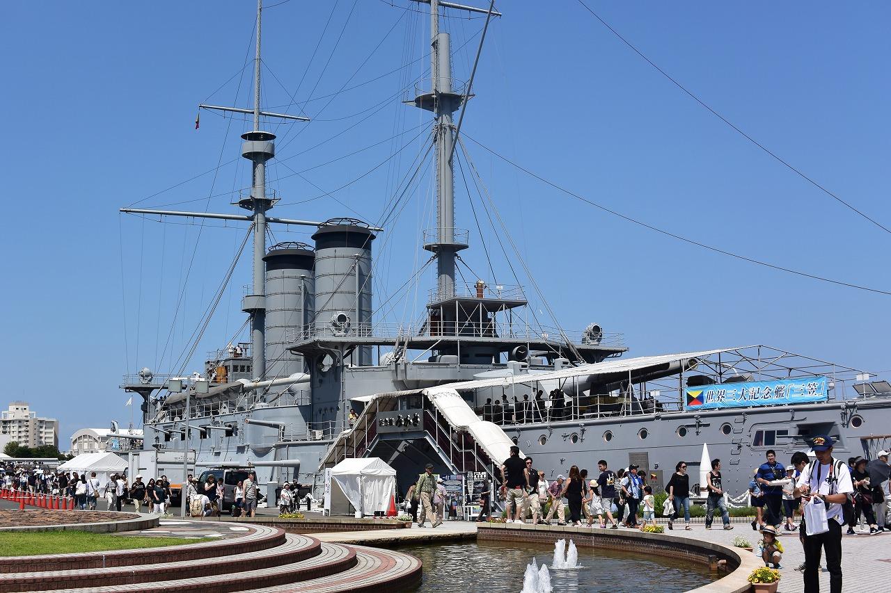 【神奈川】横須賀の戦艦三笠を見学してきた!暑い日の見学は熱中症にご注意を