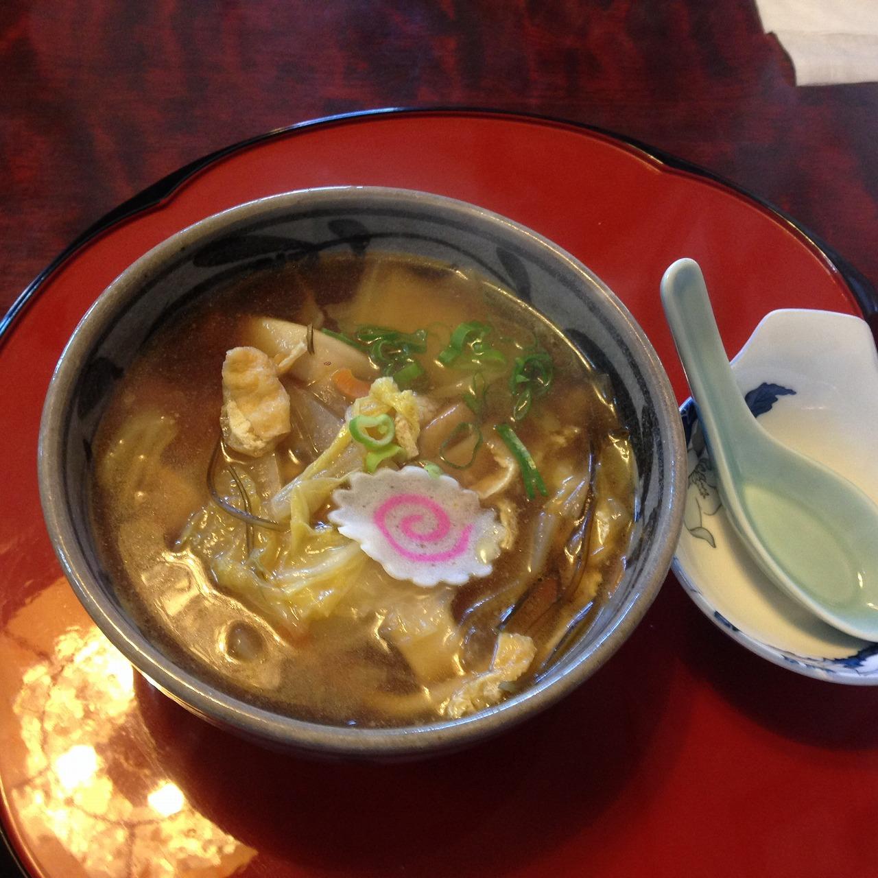 長瀞屋でお昼ごはん_おっきりこみうどん