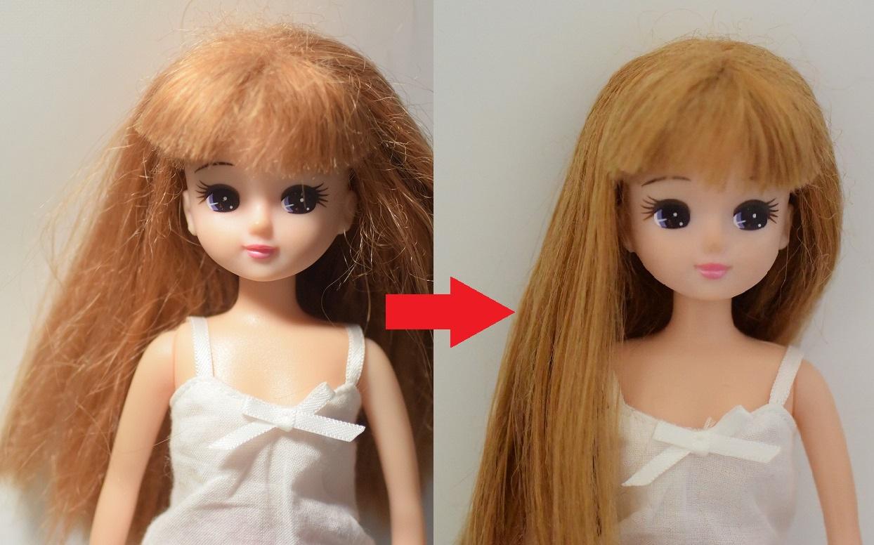 リカちゃんのボサボサになった髪の毛を復活!お手入れ方法(オイルスプレー編)