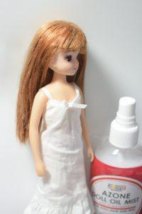 リカちゃんのボサボサになった髪の毛を復活