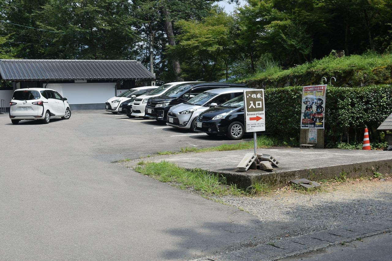 郡上八幡城の駐車場