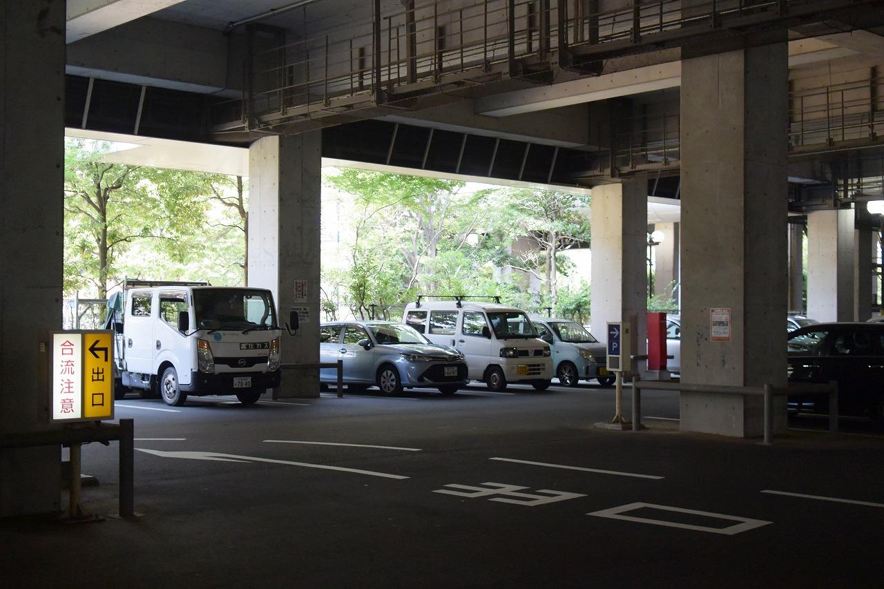アマゴッタの駐車場