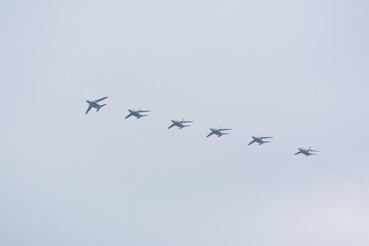 入間基地航空祭2019年ブルーインパルス課目(着陸前)