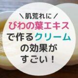 【子どもの肌荒れ】びわの葉エキスで作るクリームの効果がすごい!【手作り】