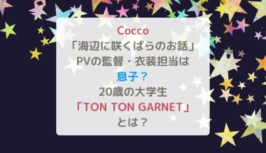 Cocco「海辺に咲くばらのお話」のPV監督・衣装担当は息子?20歳の大学生「TON TON GARNET」とは?