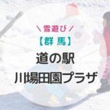 【群馬県】道の駅川場田園プラザで子どもと雪遊び!そして山賊焼き!【お得で楽しい一日】