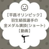 羽生譲平昌オリンピック金メダルショート演技の動画