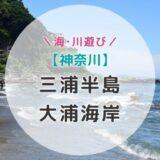 【神奈川】子ども達が大喜びする三浦半島の穴場海水浴場はここ!【大浦海岸】