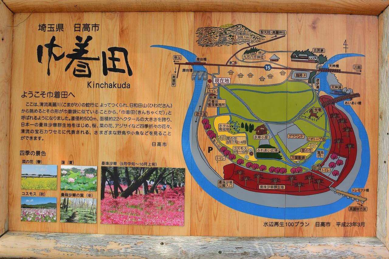 埼玉県高田市の巾着田地図