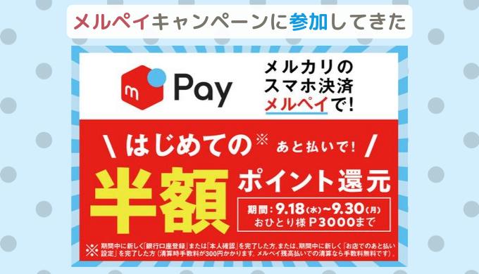 メルペイ50%還元キャンペーン!スギ薬局で6000円を半額で買い物してきた