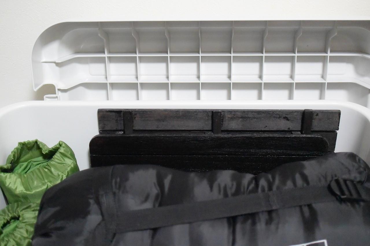 無印の収納コンテナボックスとセリアのすのこで簡単キャンプテーブル