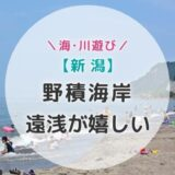 【新潟】遠浅が嬉しい野積海岸で子連れ海水浴!と寺泊で海の幸を満喫の夏旅あれこれ