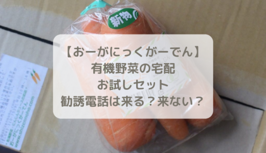 【おーがにっくがーでん】有機野菜の宅配お試しセットはその後しつこい勧誘はある?ない?