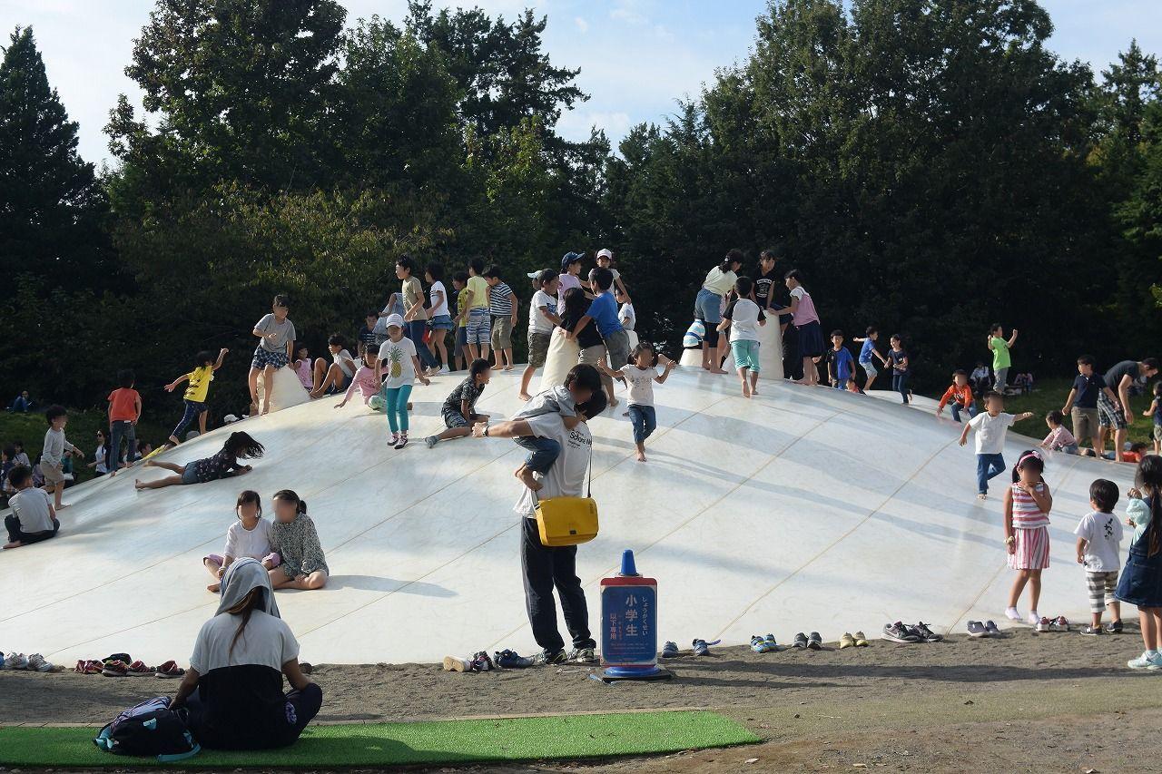 秋のお出かけにおすすめな昭和記念公園の遊具