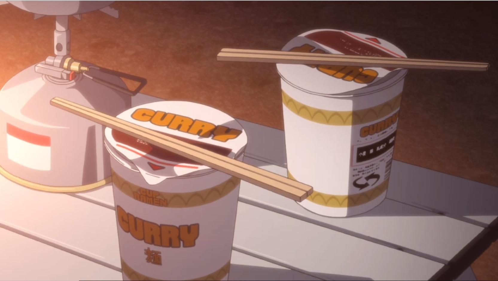 アニメ『ゆるキャン△』1話のカレーめん