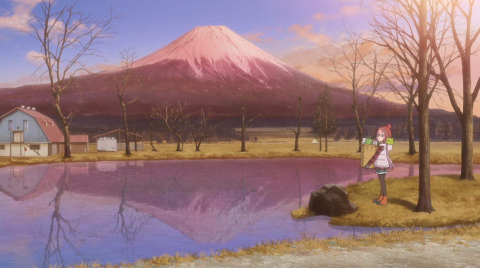 アニメ『ゆるキャン△』3話の富士山のふもとにある麓キャンプ場(ふもとっぱら)