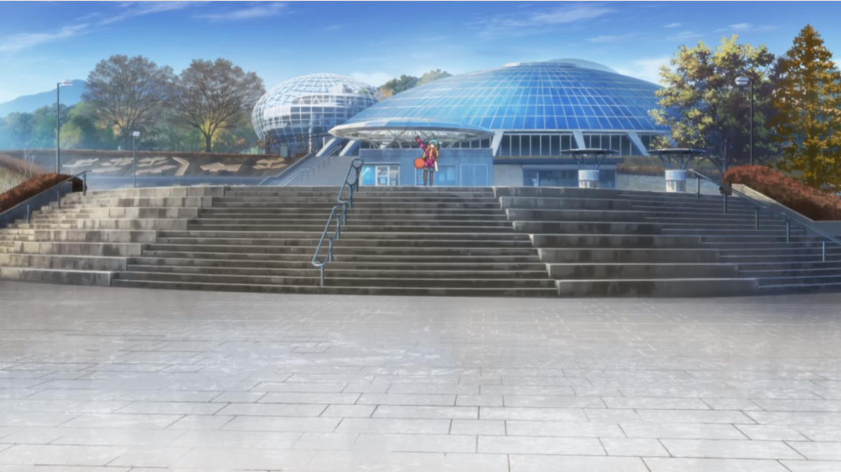 アニメ『ゆるキャン△』4話の「くだもの広場」