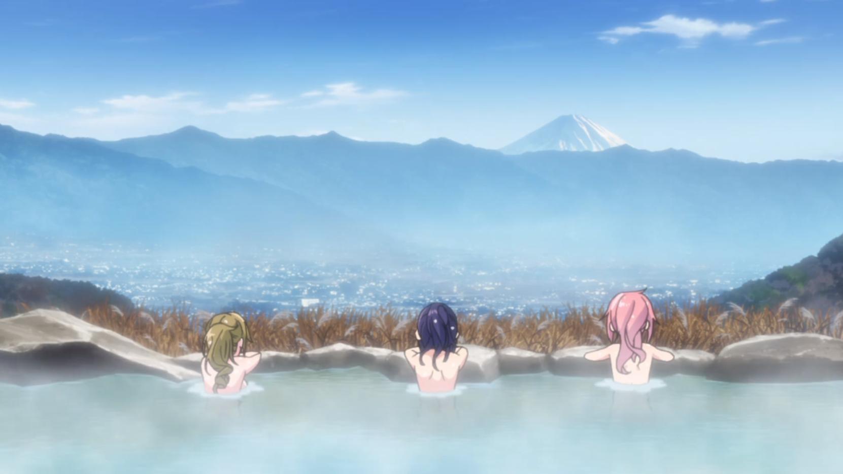 アニメ『ゆるキャン△』5話のほっとけや温泉入浴シーン