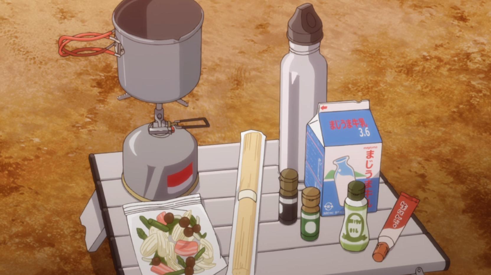 アニメ『ゆるキャン△』5話の志摩リンのスープパスタの材料