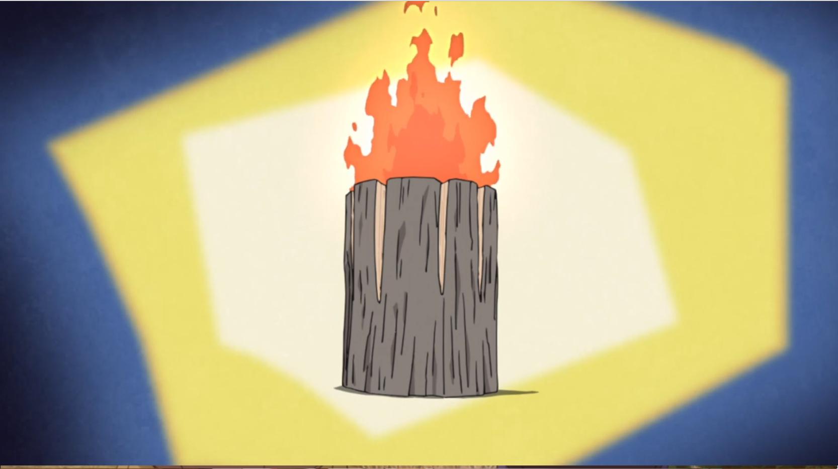アニメ『ゆるキャン△』5話のウッドキャンドルの作り方