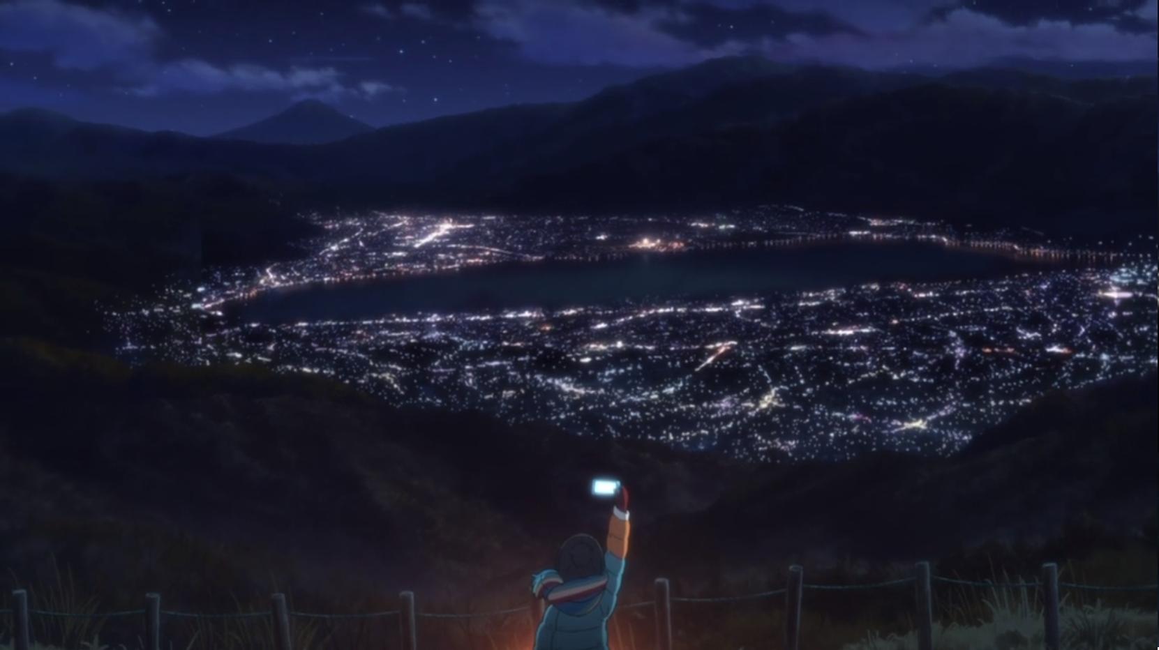 アニメ『ゆるキャン△』5話の志摩リンが見た夜景