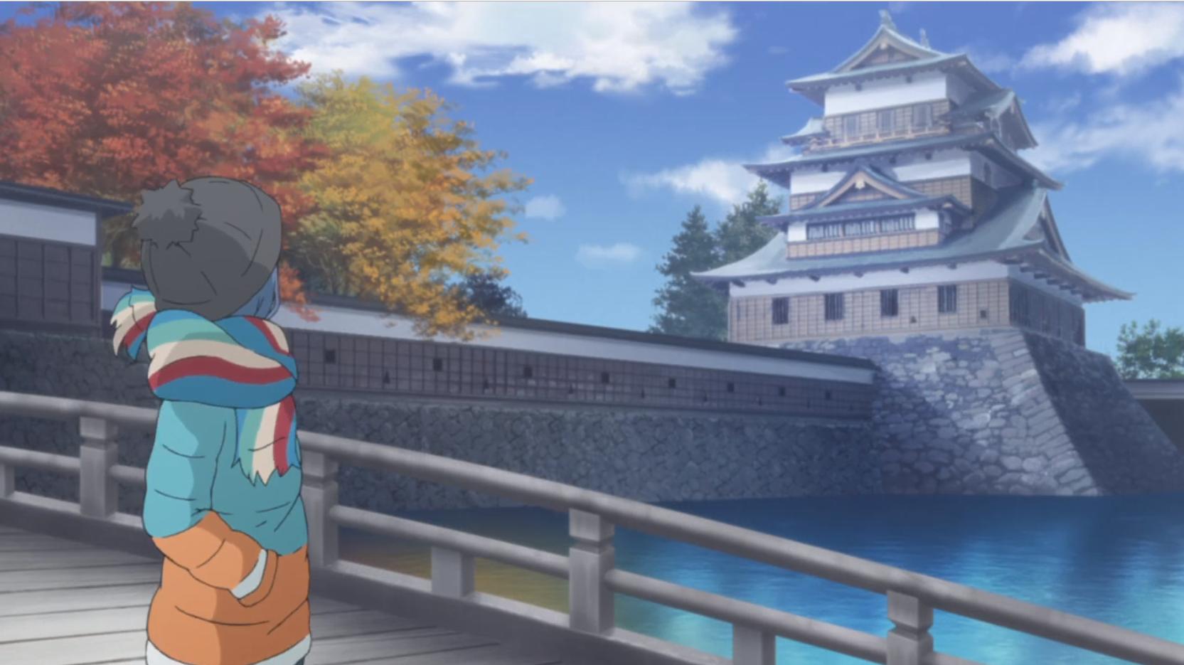 アニメ『ゆるキャン△』6話の高島城