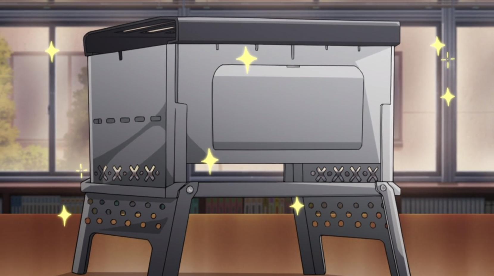 アニメ『ゆるキャン△』6話のコンパクト焚火グリル