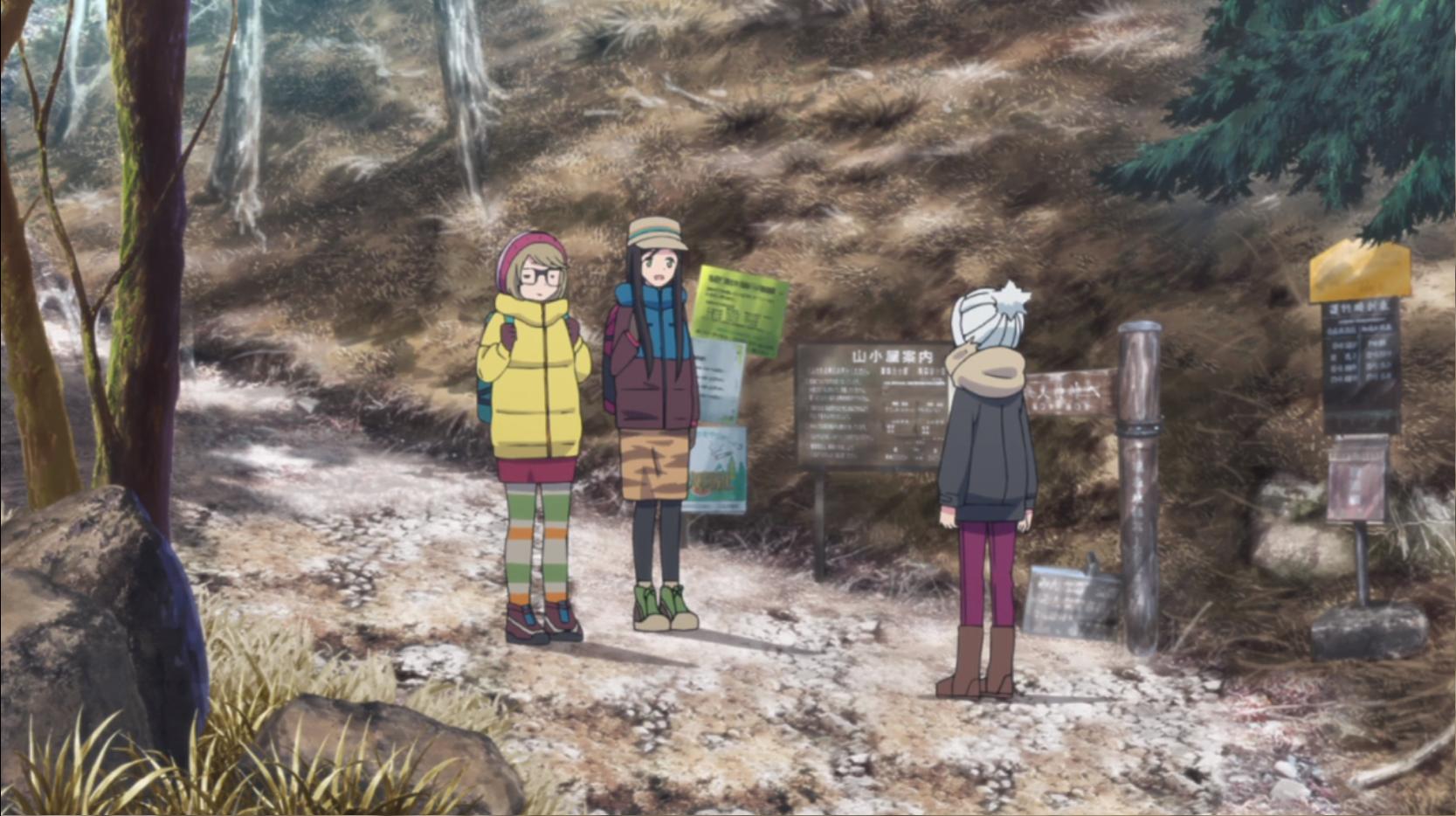 アニメ『ゆるキャン△』9話の夜叉神峠で出会った登山客のお姉さん