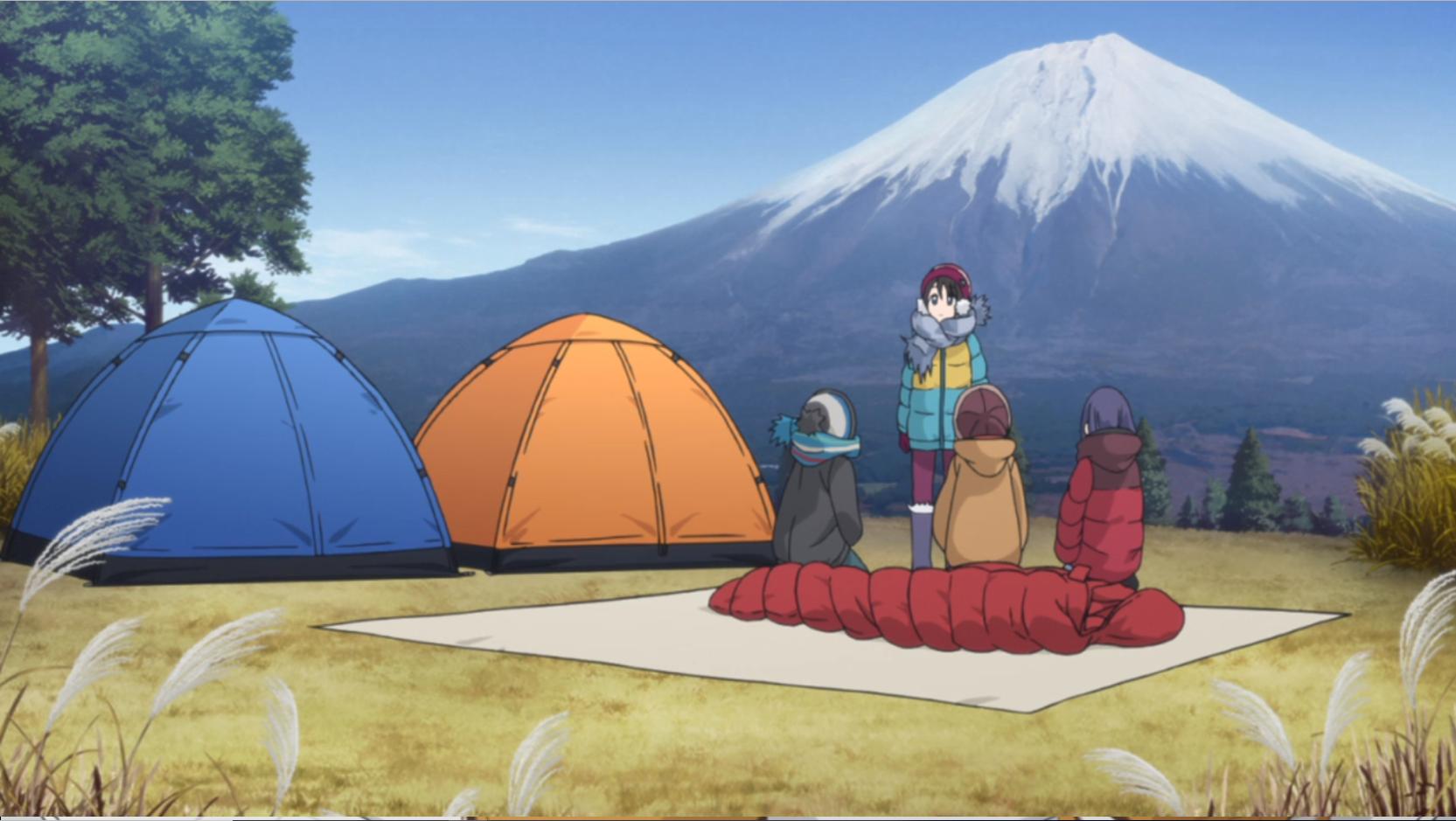 アニメ『ゆるキャン△』11話の斉藤さんのキャンプ道具(寝袋シュラフ)
