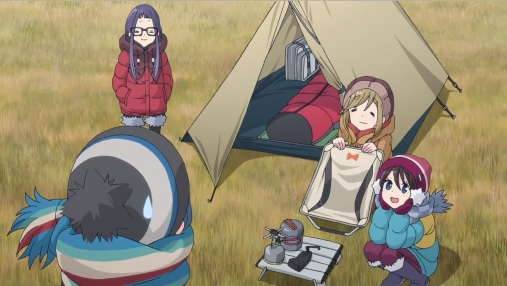 アニメ『ゆるキャン△』11話の志摩リンのキャンプ道具