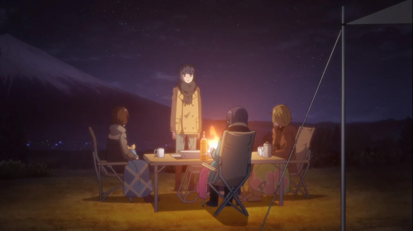 アニメ『ゆるキャン△』12話の朝霧高原キャンプ場での10年後妄想