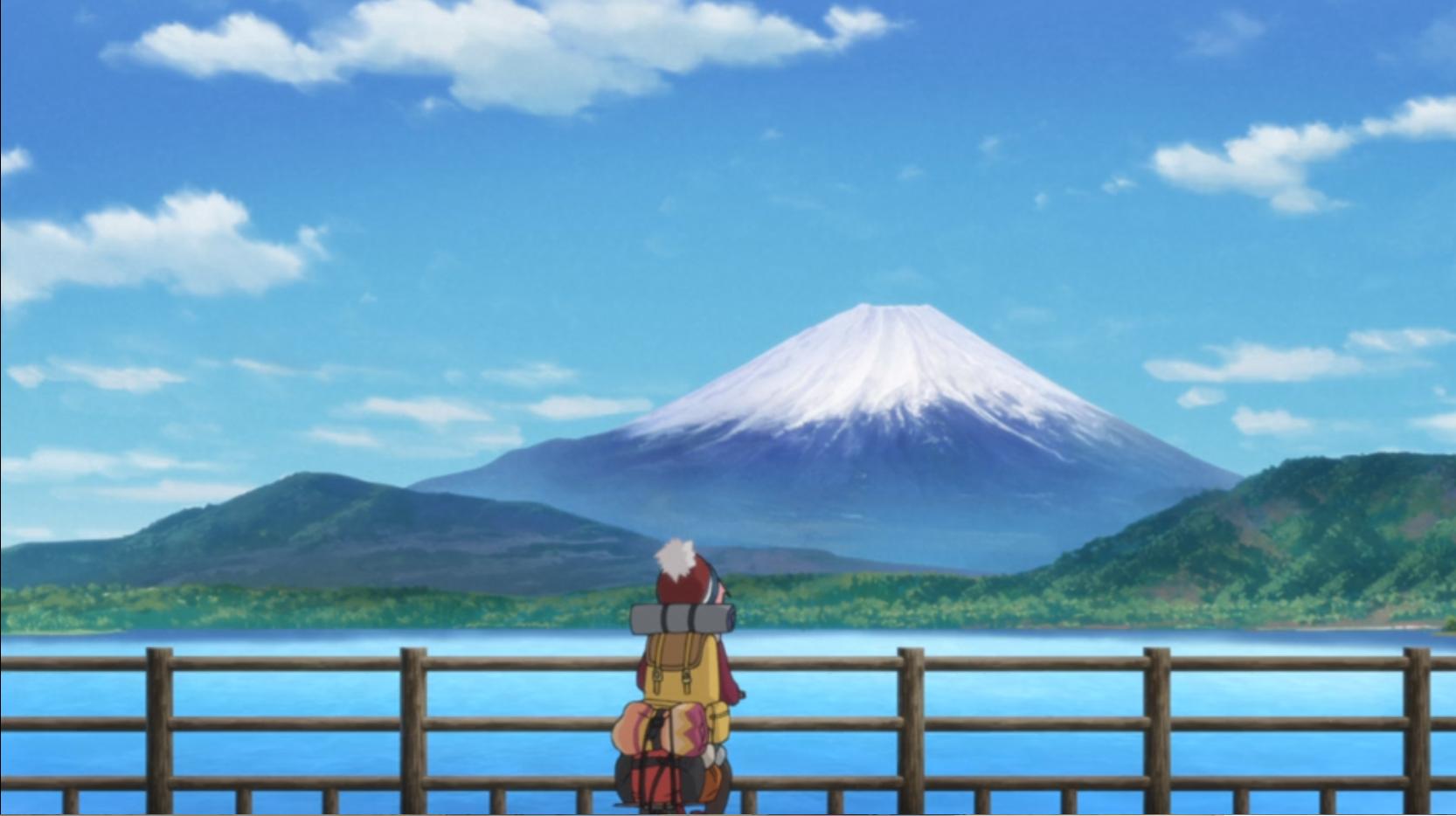 アニメ『ゆるキャン△』12話のラスト本栖湖
