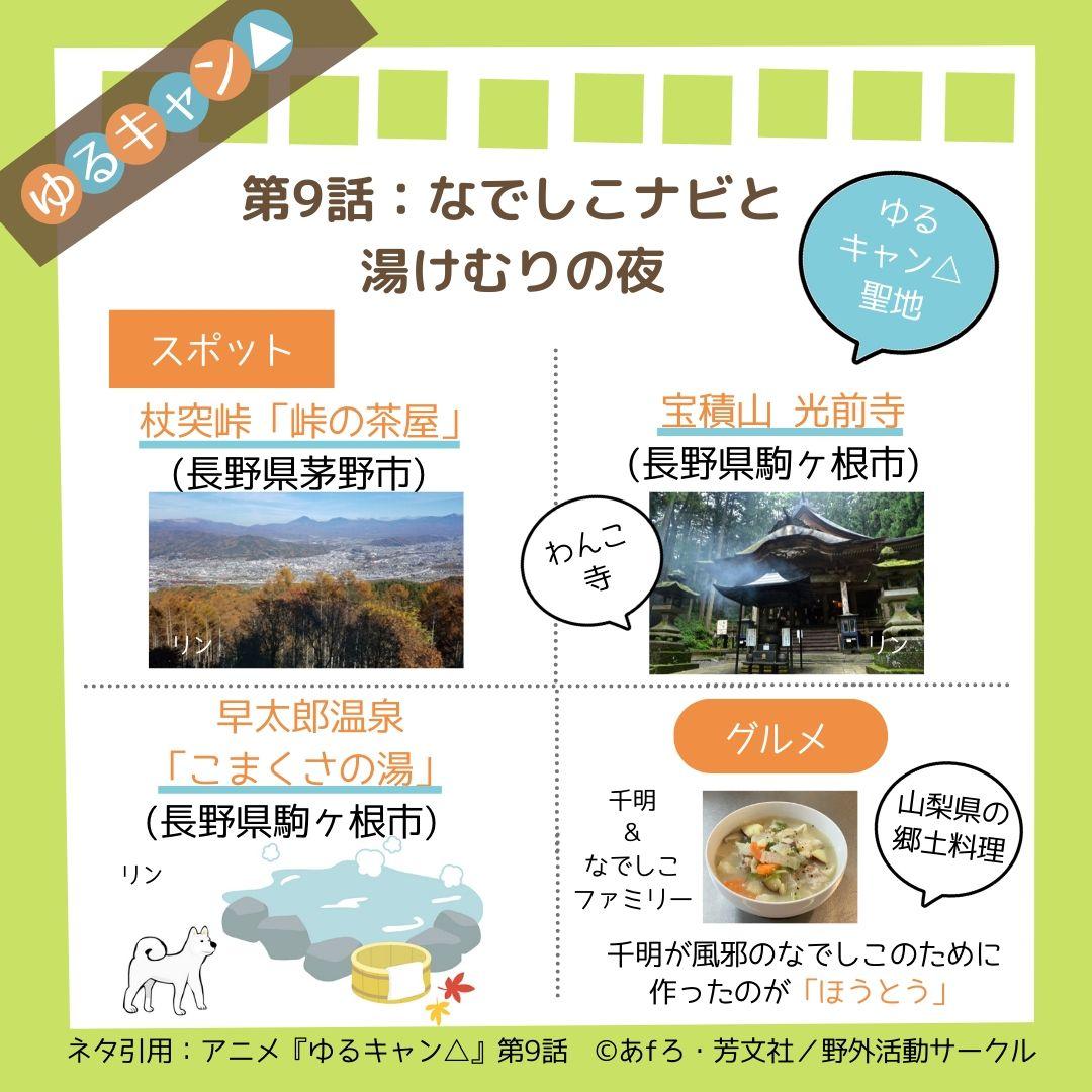 ゆるキャン△(アニメ第9話)のあらすじと見どころネタバレ解説